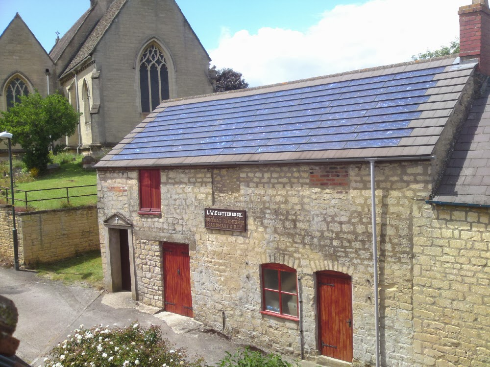 Solar panels provide chapel of rest with power